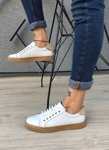 MARTINETTO Hakiki Deri Sneaker Beyaz